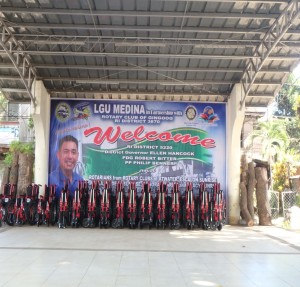 Medina Mayor Ken Nino T. Uyguangco welcome banner.