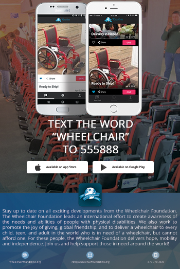 Wheelchair Foundation App